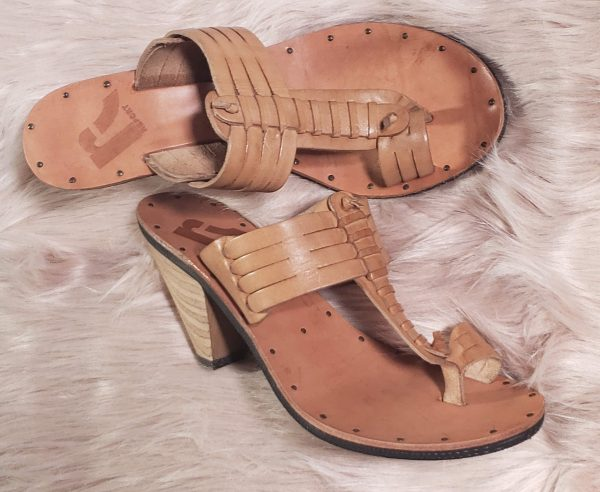 tan report sandal