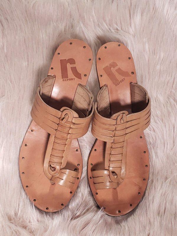 tan report sandal